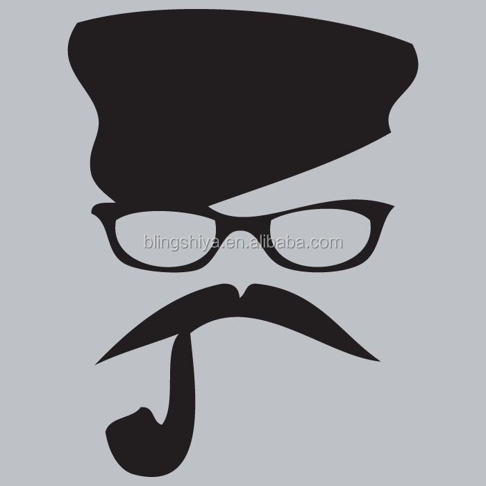 Cool Mustache Iron on Heat transfer vinyl T-shirt design