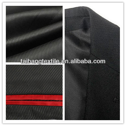 New 100% Polyester Twill lining fabric garment---suit inner lining fabric