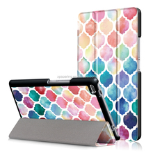 Colorful printed PU leather case with stand for Lenovo Tab 4 8 TB-8504F