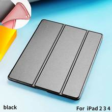PU Leather Flip Cover Case for Apple ipad 2 3 4 Tablet Case for ipad Case