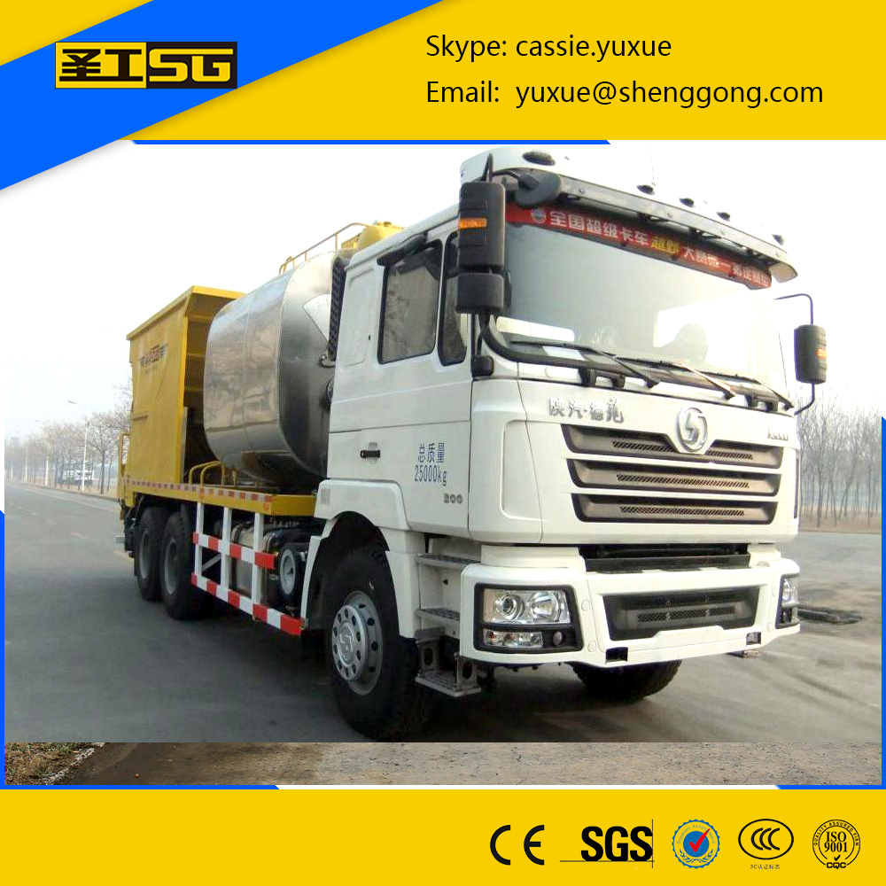 Stone spreader machine,8500L Asphalt Tank and 12000L Stone Tank Asphalt Macadam Spreader