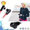 colorful flat cable stereo sport high quality earphone with bluetooth version4.0