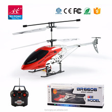Wholesale professional products 3CH big propel rc single blade helicopter for play BR6608