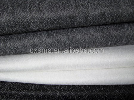 SMSZ10841 20%polyester silicone oil fusing non woven interlining products