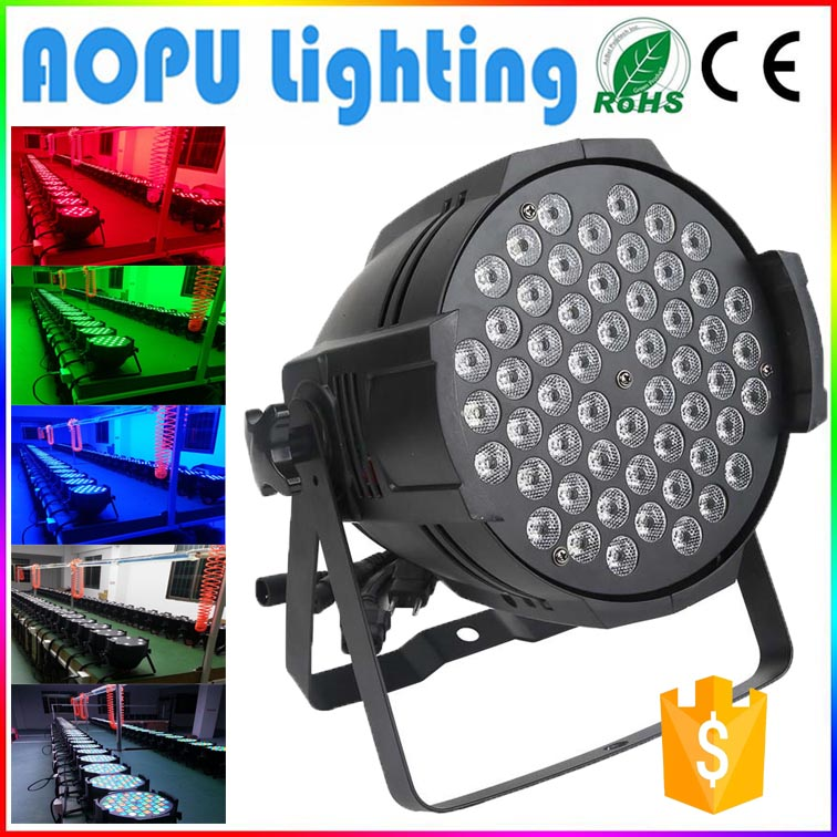 Best Quanlity light par 3w*54 rotating stage light for stage decoration