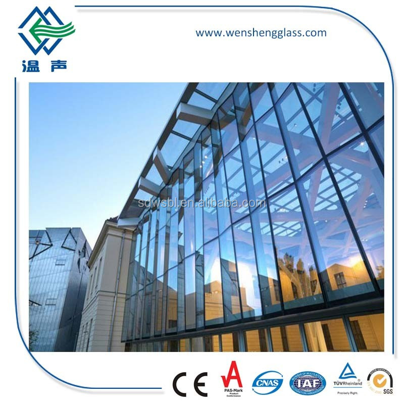 highly processed exported qualified low-e curtain wall insulated glass prices for heat & lights resistance with CE standard