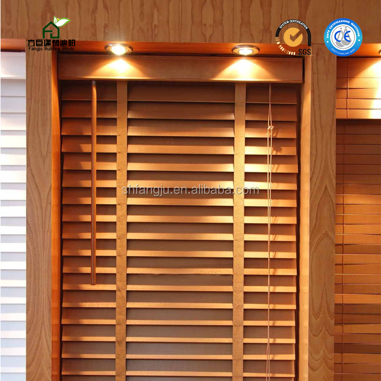 New Style Wood blinds / Indoor Wood Blinds For Home Decor / Timber Blinds Windows