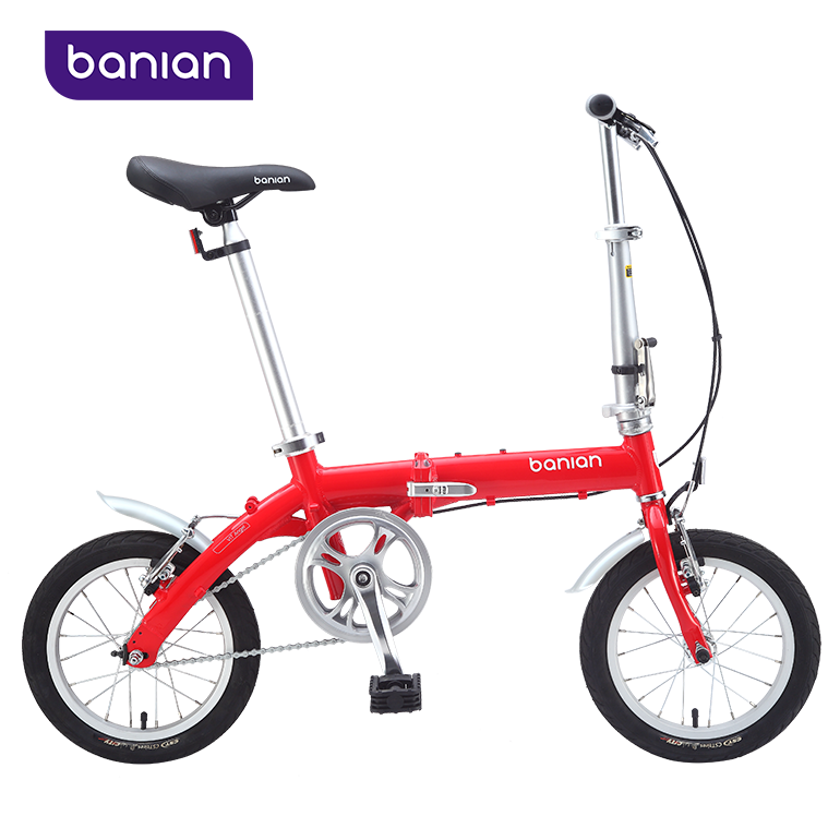 2018 Hot Selling Warm-Tone Red Love Heart Color 14 Inch Kids Bikes Kids Folding Bike