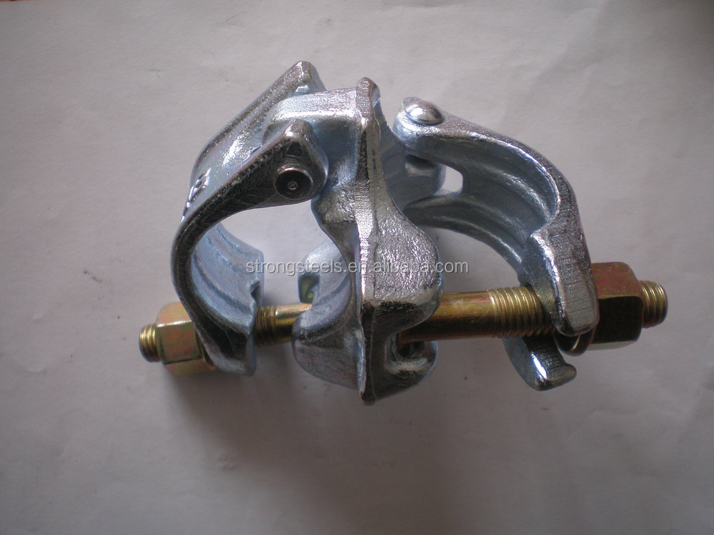 Zinc coated forged pipe clamp for building