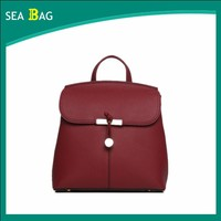 2016 Hot Selling Chinese Grain Leather Backpack Women Cute Style For Young Girl