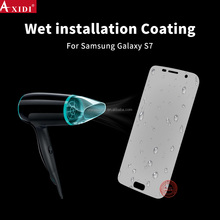 automatic healing spray screen protector 3D film for samsung s7