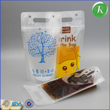 stand up reusable food spout pouch bag/ziplock reusable drink pouch with spout packaging/liquid stand up pouch