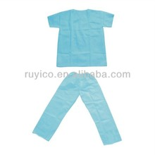 Medical disposable SMS scrub coat suits a kit includes coat and pants