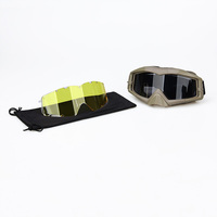 High Impact Resistant Anti-Frog Anti Scratch Comfort Airsoft Paintball Goggle With 2 Color Clear Lens