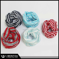 Jersey Young Tube Scarf Fashion Striped Scarves
