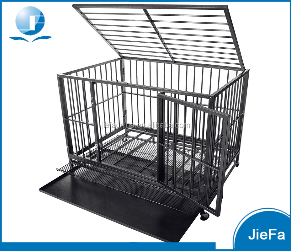 Folding large metal dog crate JF-PCP-628