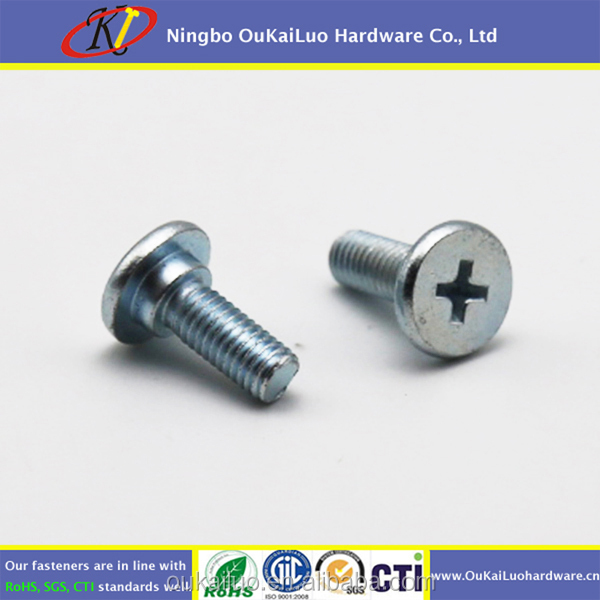 Carbon Steel M3 Cross Recessed Flat Head Shoulder Screws