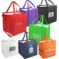 Therm-O-Tote Grocery Food Delivery Extra Large Insulated Non Woven Thermos Sac Thermal Cooler Bag Insulated Tote