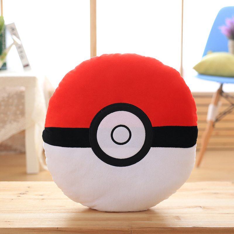 Custom wholesale 40x40cm pokeball pokemon go plush pillow