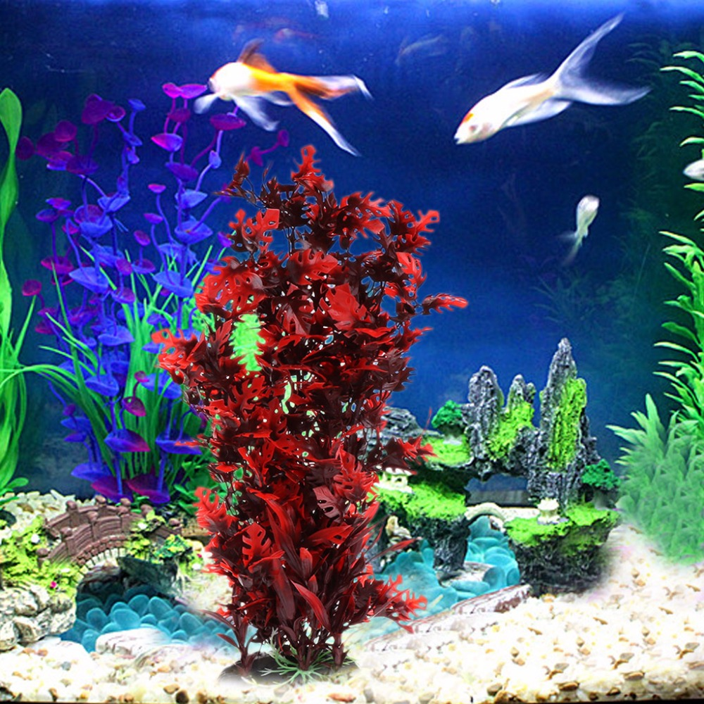 1Pc Hot Aquarium Aquatic Plants Red Lively Moss With Stable Base ...