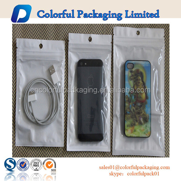 Custom clear plastic ziplock bag for iphone 6 case / iphone 6s accessary phone case packaging bag