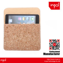 New arrivals well-stitched protective envelope cork leather pouch for apple ipad mini