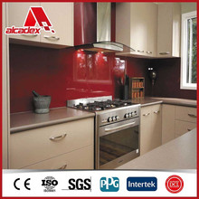 decorative plastic kitchen wall panel/ PE aluminum composite panel