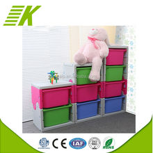 Popular supplier storage cabinet plastic 4 drawers for preschool