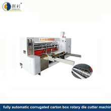 automatic corrugated carton box rotary die cutting machine/regular packing pizza box rotary die cutting machinery price