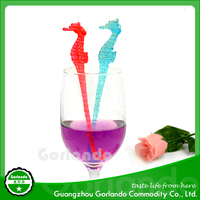 155mm sea horse plastic drinking cocktail stirrer