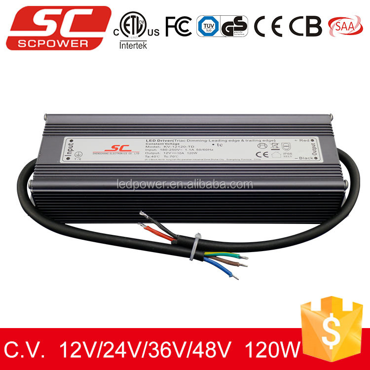 KVP-12120-TDL 110V input phase cut dimming 12v voltage 120w led power ac dc