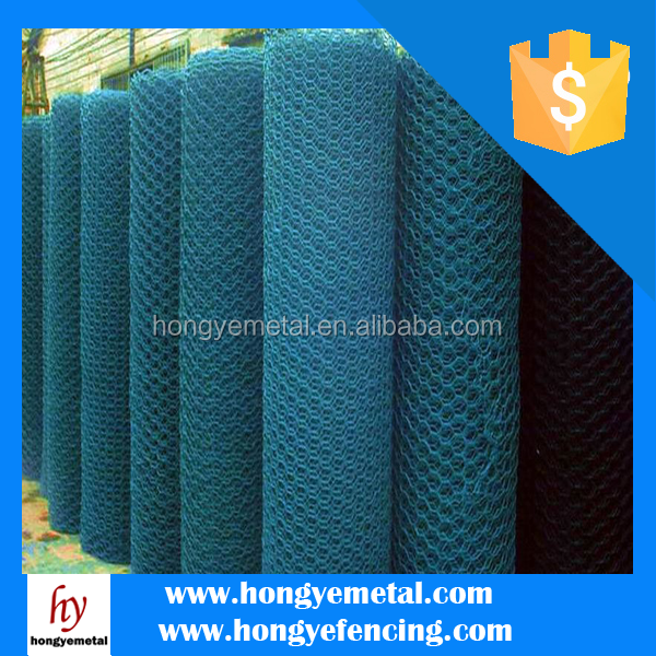 "LOW PRICE Building Your Dream 3/8"" PVC Coated Hexagonal Wire Mesh"