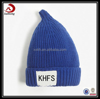 winter promotional fashion warm funny wool blue knitted hats