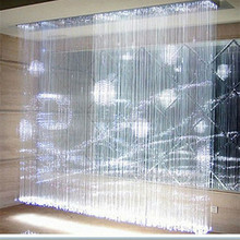 Starry salon decorating curtain , LED side & end glowing waterfall curtain Made in China