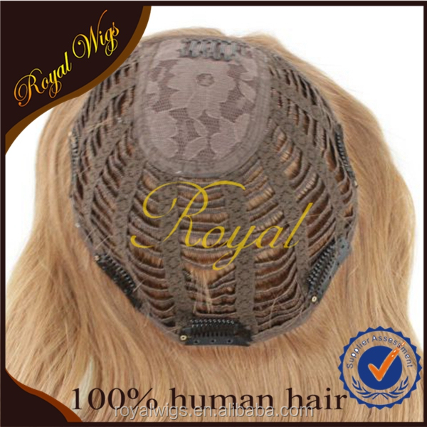 100% Virgin European Hair Straight Hair Kosher Jewish Wig Kippah Topper Wholesale