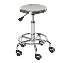 Height Adjustable Stainless steel swivel lab stool