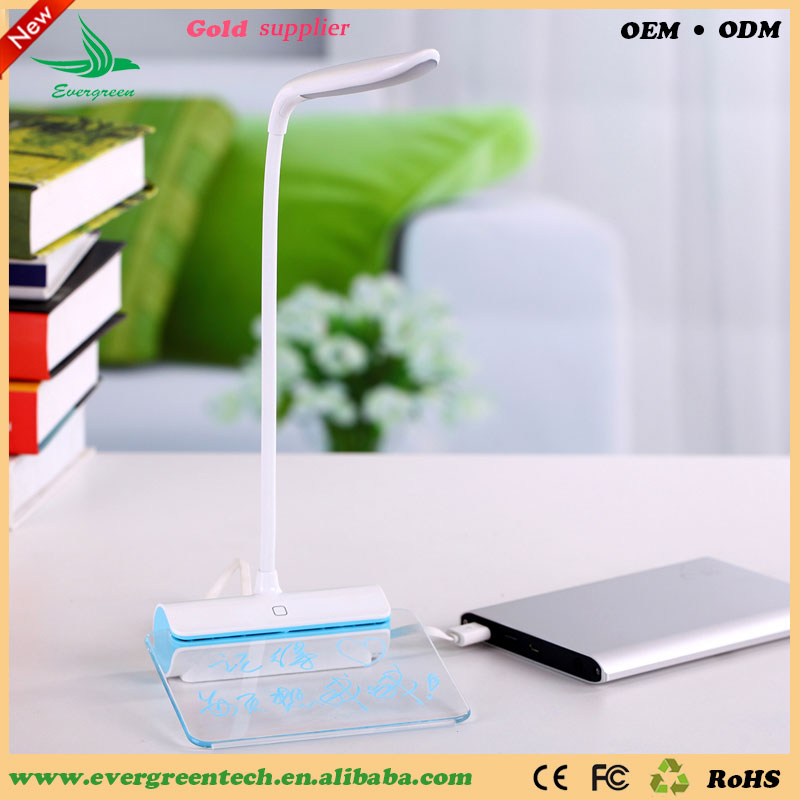 Evergreentech new and hot selling Rechargeable led lamp Message Desk Lamp