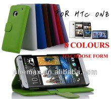 Wholesale price for HTC one M7 case, New Flip Leather Case for HTC One M7