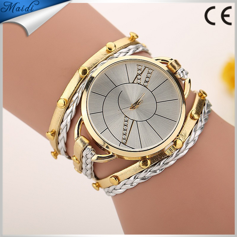 2016 Leather Dress Wristwatch Jewelry Quartz Watch Reloj Mujer Big Dail Leather Bracelet watches WW035
