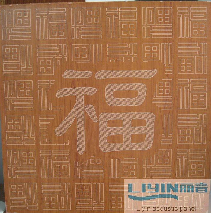 OEM design Carved acoustic perforated panel