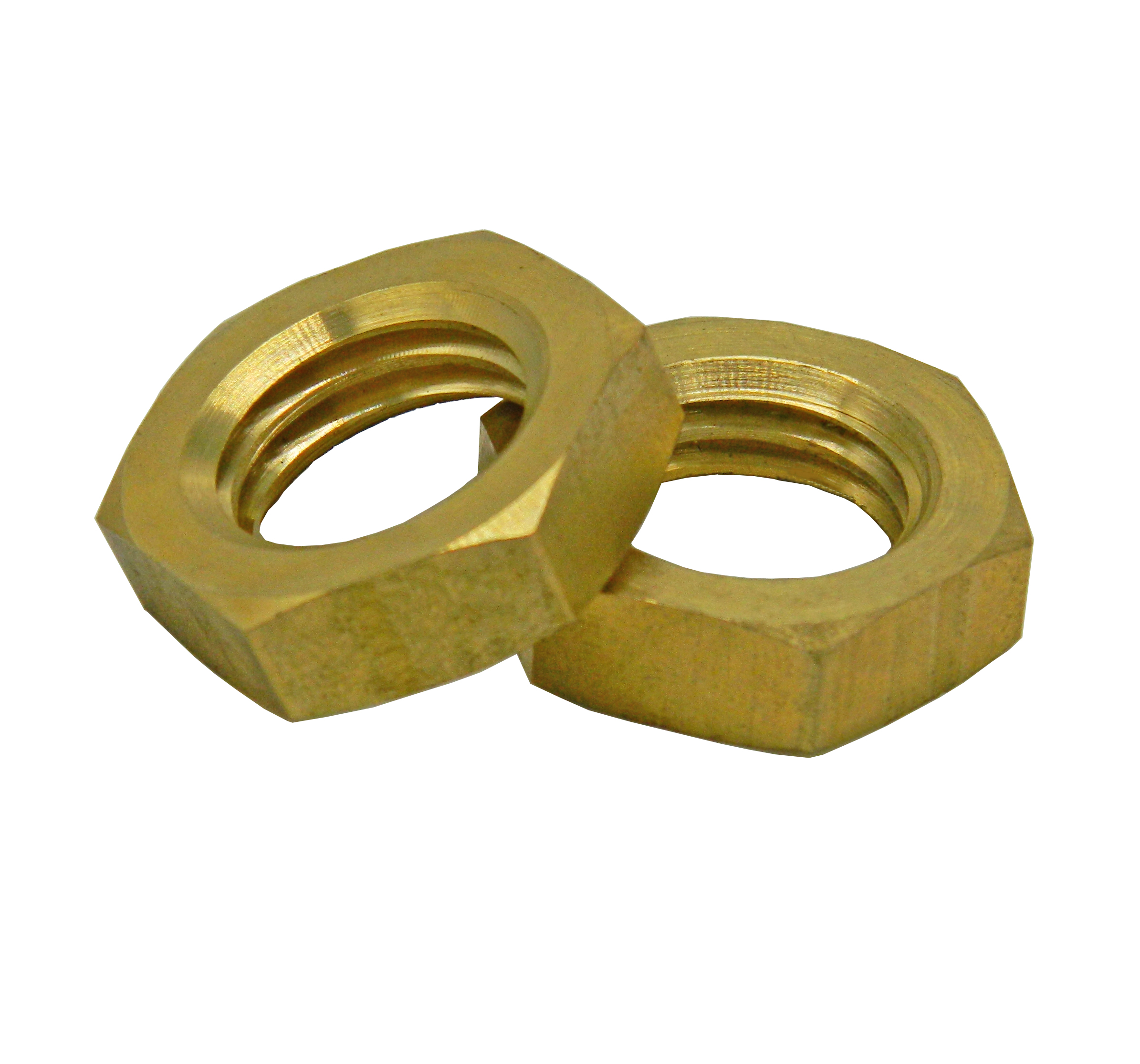 DIN 439 Brass Hex Thin Jam Nuts in Stock