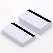 CR80 new arrival printing blank pvc card with hico magnetic stripe