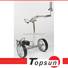 lithium battery Stainless Steel electric golf trolley