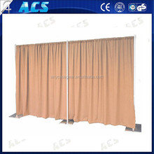 2015 Promotional pipe and drape backdrops for exhibition booth/beautiful pipe and drape/adjustable used pipe and drape