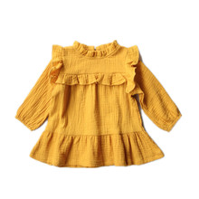 2018 Latest Design Baby Clothes Party Dresses Cotton baby girls birthday children girl kids ruffle clothing