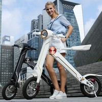 Mini li-ion battery powered operated 2 wheel electric motor scooter with seat