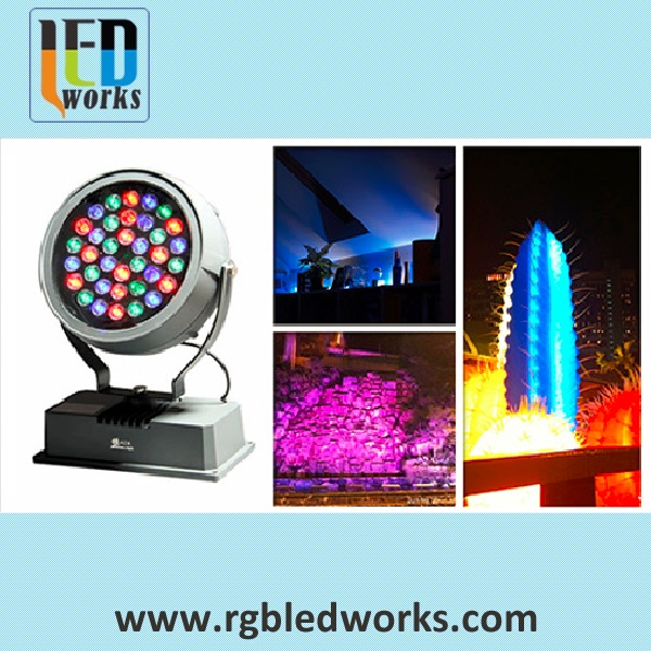 DMX remote control RGB dmx light led flood 36w