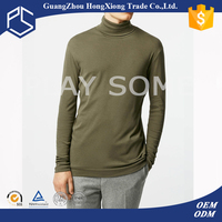 Bulk mens collar cotton turtlenecked full long sleeve tall winter t-shirts