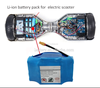 Best price Li ion battery pack 10S2P 18650 36V li ion battery electric scooter for two wheel smart balance electric scooter
