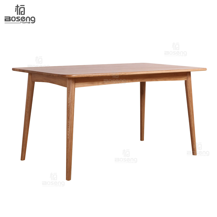 Boseng modern style fashion design natural oak wood dining table for dinging room and kitchen